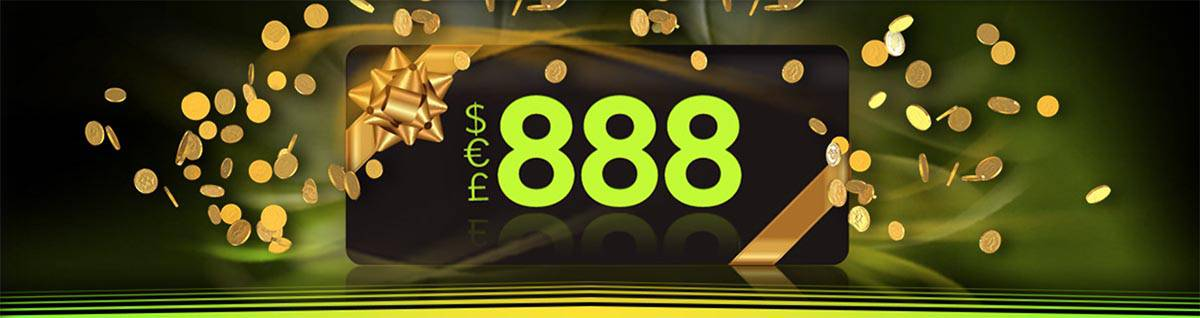 Login to 888Casino for your chance to win $188 on the 1st of each month!