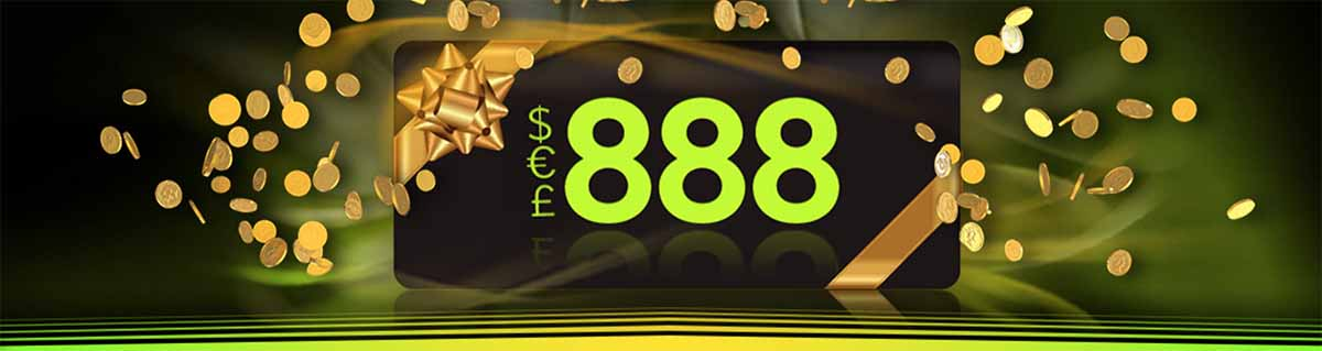 Login on the 1st for a chance to win up to $188 from 888Casino.