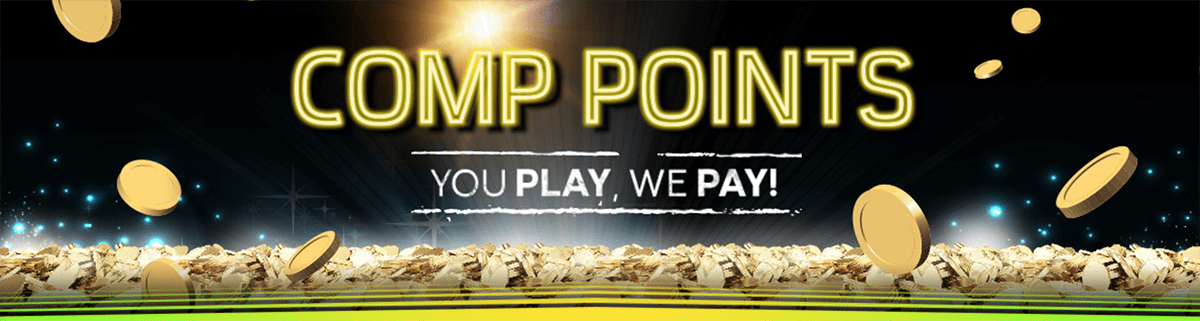 Collect comp points at 888 Casino, just play and they'll pay!
