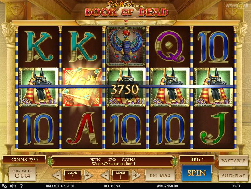 book of dead real money slot