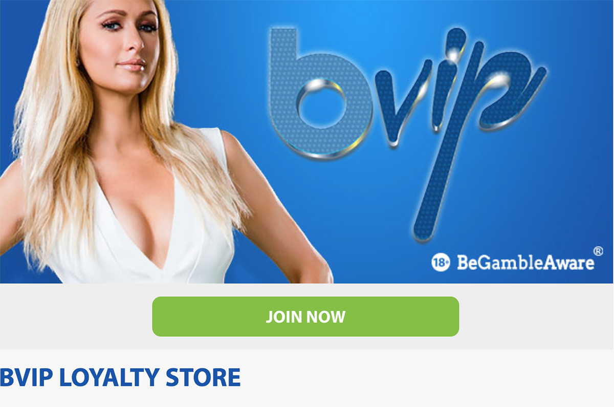 join the bVIP loyalty program at BGO casino