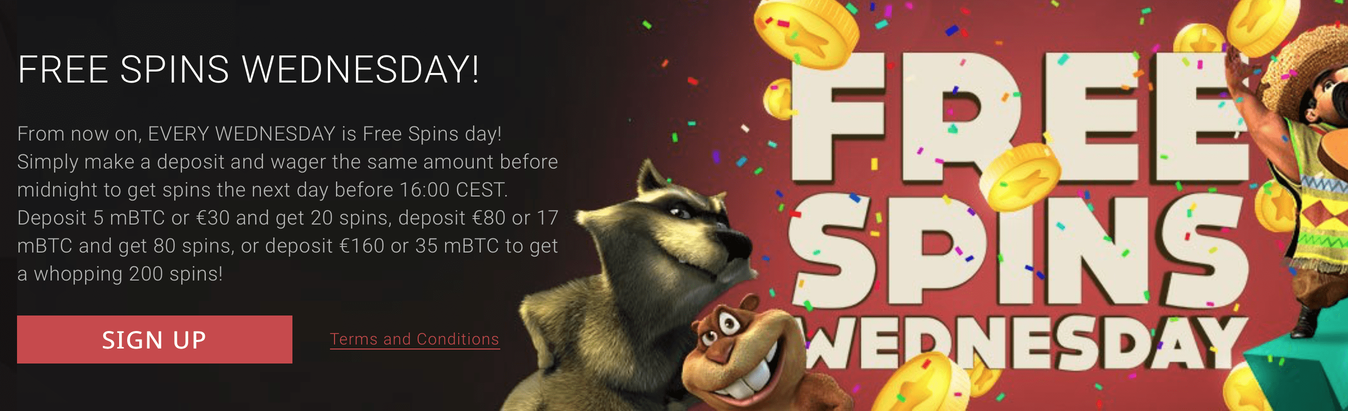 Take part in free spin Wednesdays at BitStarz Casino
