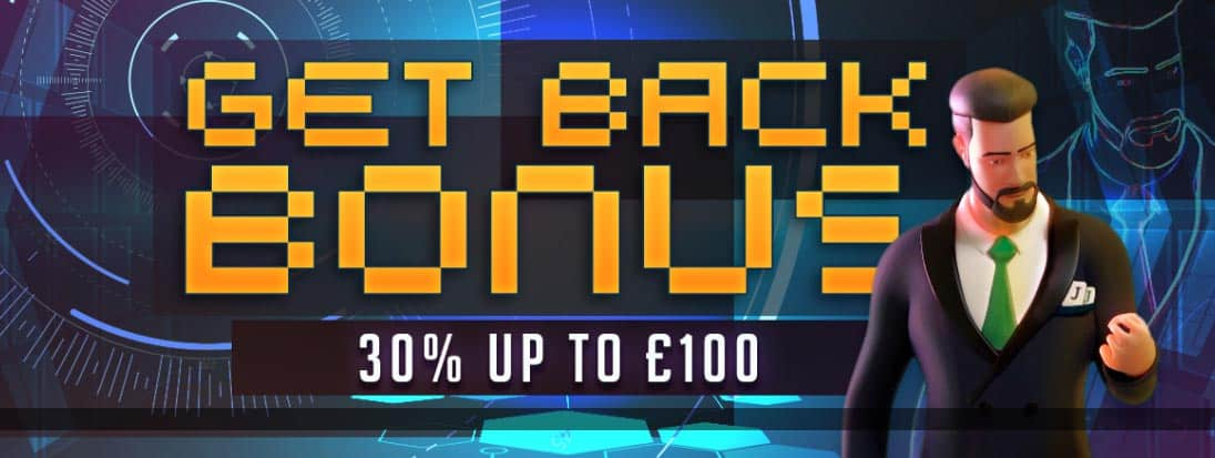 Start of the week just got better with the JonnyJackpot cashback Monday bonus!