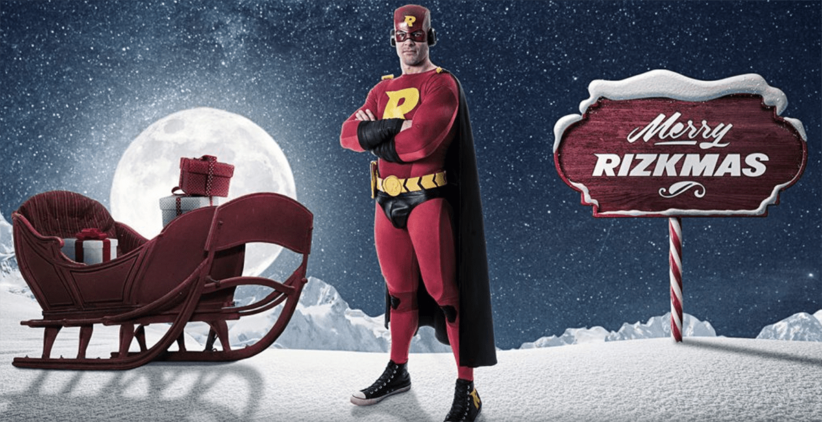 Merry Rizkmas to you! Login to Rizk until Xmas and you could win cash, seriously!
