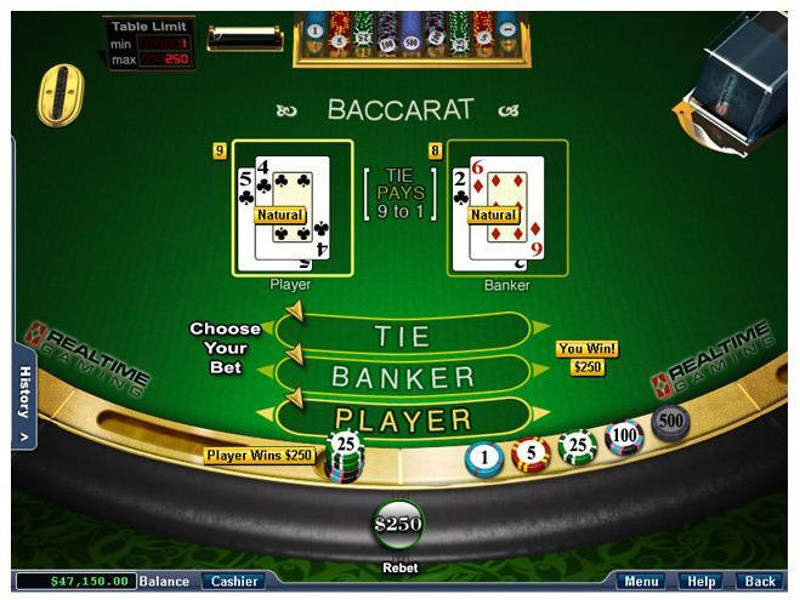 real money online baccarat