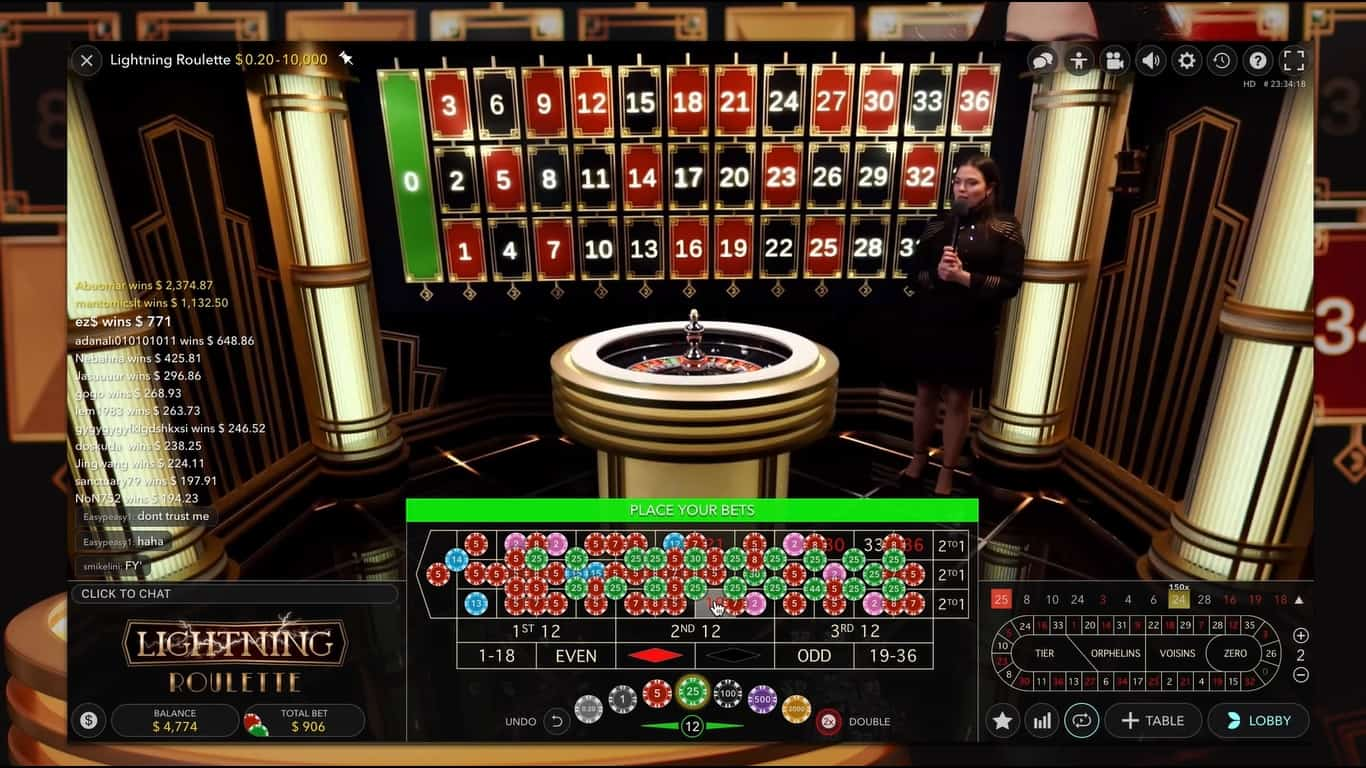 Lightning Roulette is just one of the many games available in Party's live casino.