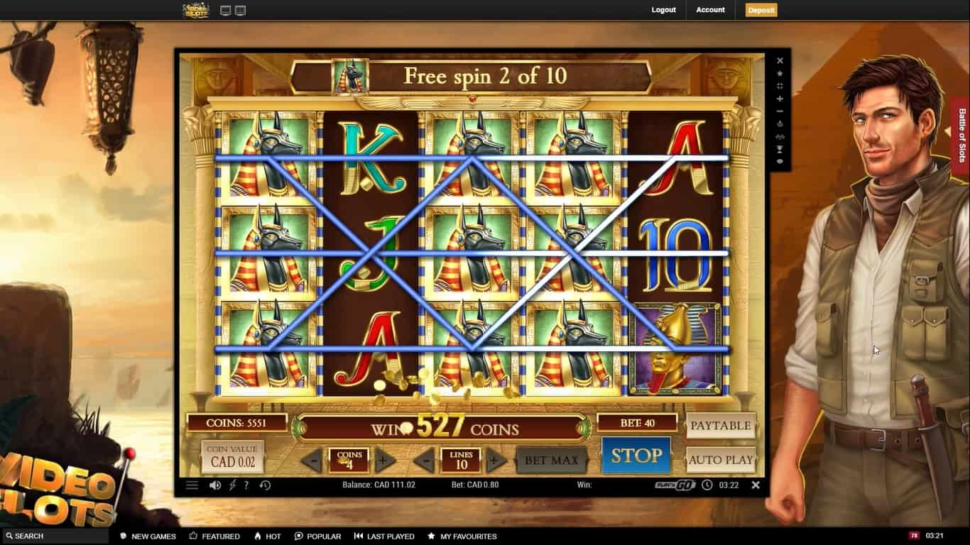 Famous for big winning combos, Book of Dead is one of the most popular slot games in Canada.