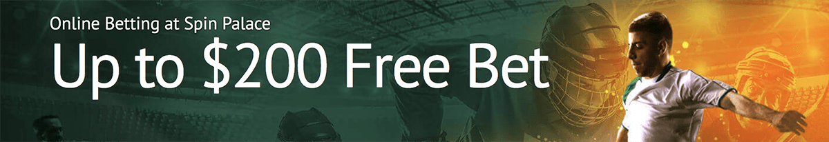 Simply deposit up to $200 and get a 100% free bet bonus from Spin Palace.